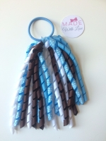 Corker Bobble - Brown, Blue & White