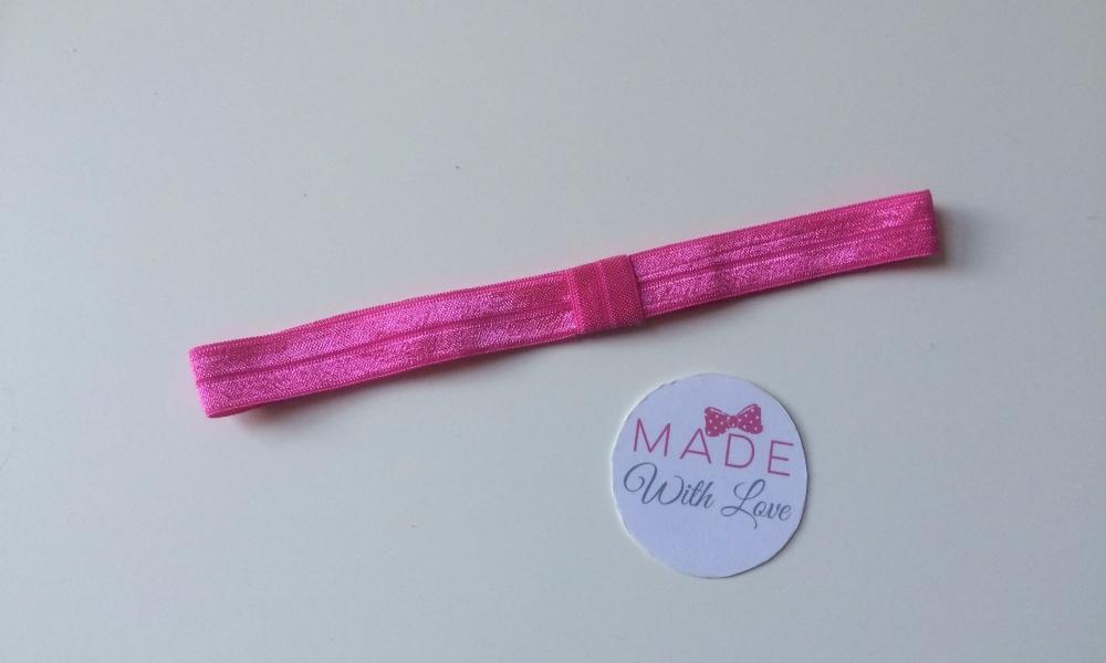 Changeable Soft Elastic Headband - Hot Pink