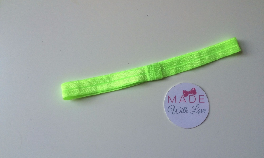 Changeable Soft Elastic Headband - Lime Green