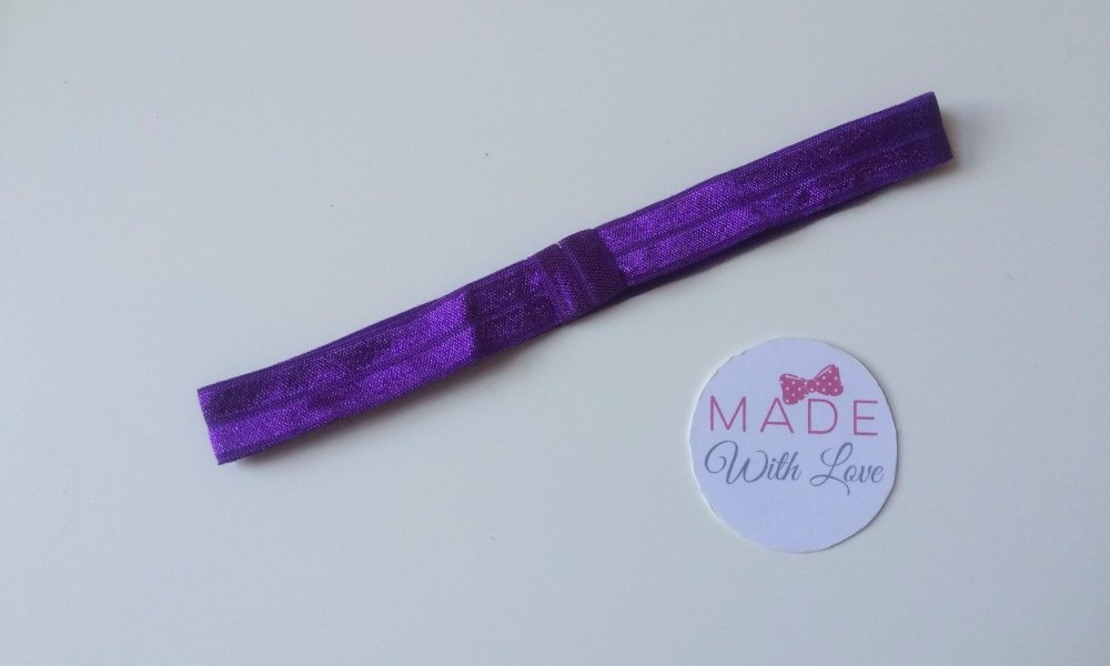 Changeable Soft Elastic Headband - Purple