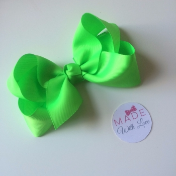 "5.5"" Bow Clip - Bright Green"