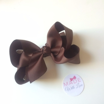 "5.5"" Bow Clip - Brown"