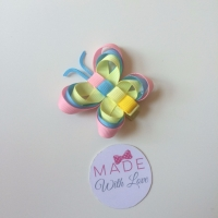 Butterfly Clip - Light Pink, Baby Blue & Lemon