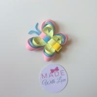 Butterfly Clip - Light Pink, Baby Blue & Lemon