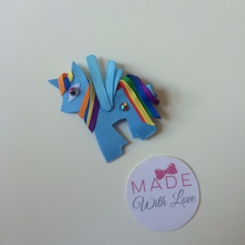 Pony Hair Clip - Rainbow Dash