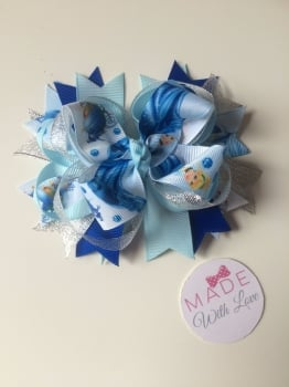 "5"" Double Stack Spike Princess Clip - Cinderella"