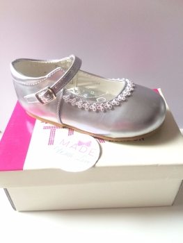 Tia London Mary Jane Style Shoes - Silver