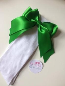 Knee Length Socks - Green & White