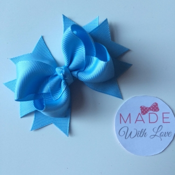 "3"" Bow Clip - Baby Blue"