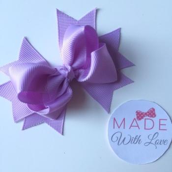 "3"" Bow Clip - Lilac"