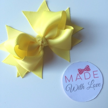 "3"" Bow Clip - Yellow"
