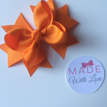 "3"" Bow Clip - Orange"