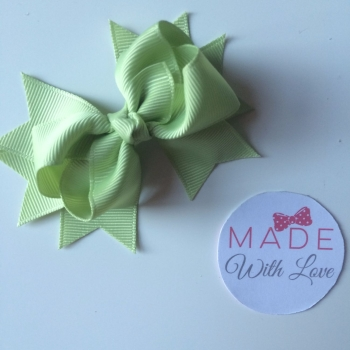 "3"" Bow Clip - Lime Juice"