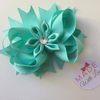 Flower Middle - Aqua