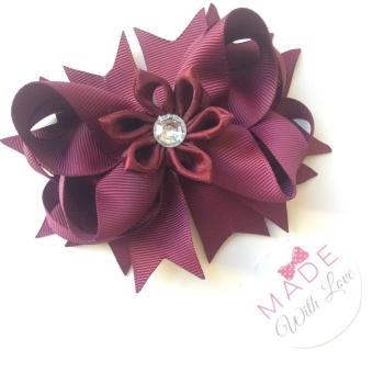 Flower Middle - Burgundy