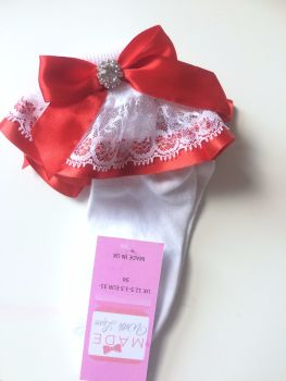 Frilly Socks - Red