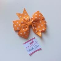 """Polka Dot 3""""Clip - Orange"""