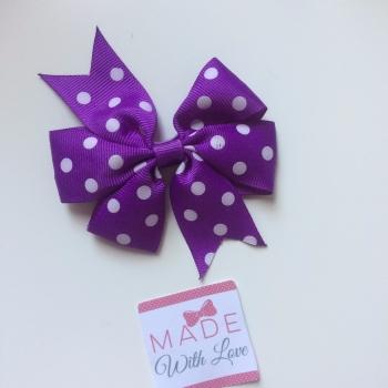 "Polka Dot 3"" Clip - Purple"