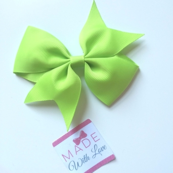 "4"" Bow Clip - Lime Green"