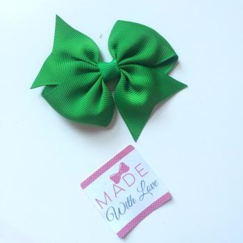 "3"" Bow Clip - Green"