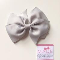 """3.5"""" Flat Bow Clip - Grey"""