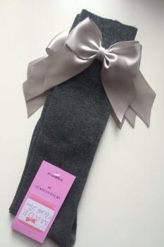 Knee Length Socks - Grey & Grey