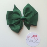 """3.5"""" Wendy Bow Clip - Bottled Green"""