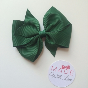 "3.5"" Wendy Bow Clip - Bottled Green"
