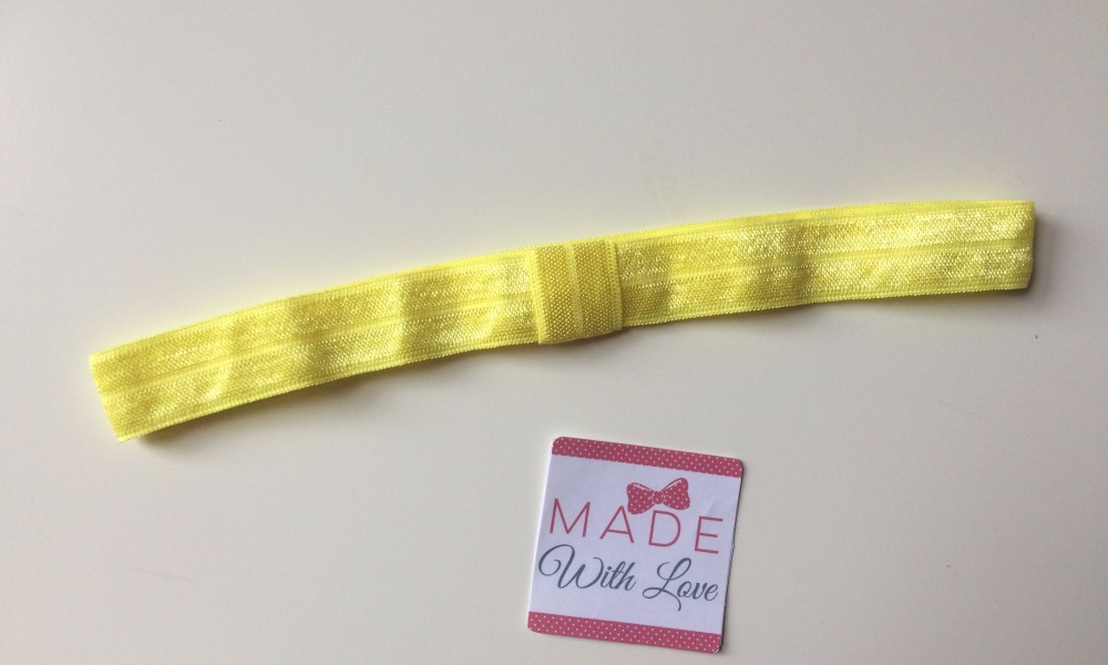 Changeable Soft Elastic Headband - Lemon