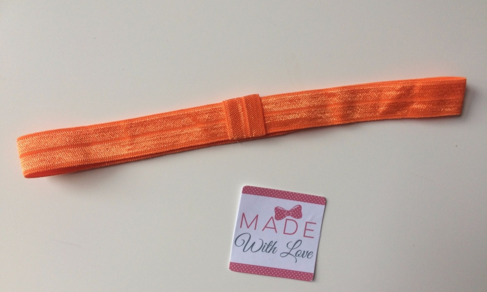 Changeable Soft Elastic Headband - Orange