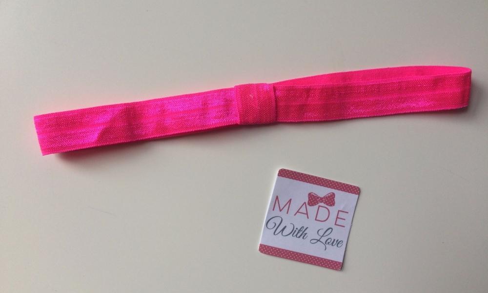 Changeable Soft Elastic Headband - Shocking Pink