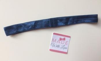 Changeable Soft Elastic Headband - Navy