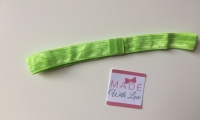Changeable Soft Elastic Headband - Lime Green