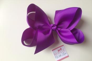 """6"""" Bow Clip - Purple"""