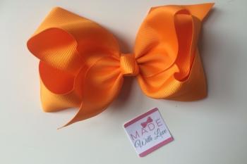 "6"" Bow Clip - Orange"