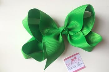 "6"" Bow Clip - Emerald Green"
