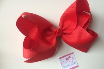 "6"" Bow Clip - Red"