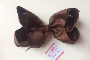 "6"" Bow Clip - Brown"