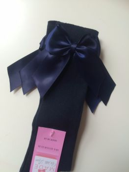 Knee Length Socks - Navy & Navy