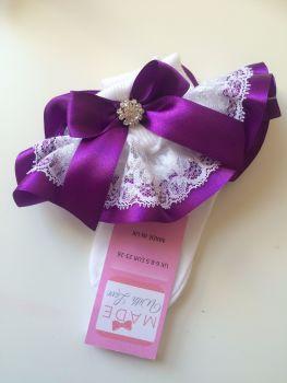 Frilly Socks -Purple