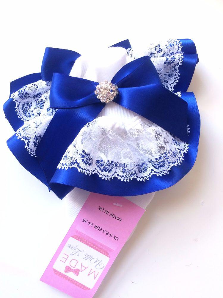 Royal Blue Frilly Socks