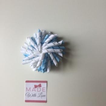 Corker Clip - Blue & White