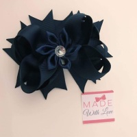 Flower Middle - Navy