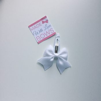 "2.5"" Bow Snap Clip - White"
