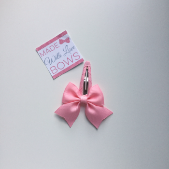 "2.5"" Bow Snap Clip - Pink"