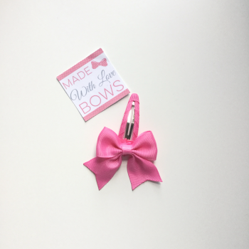 "2.5"" Bow Snap Clip - Hot Pink"