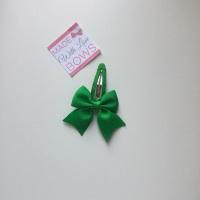 """2.5"""" Bow Snap Clip - Emerald Green"""