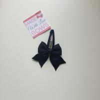 """2.5"""" Bow Snap Clip - Navy"""