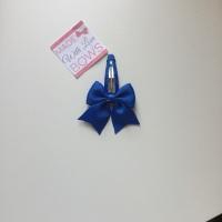 """2.5"""" Bow Snap Clip - Royal Blue"""