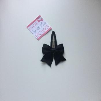 "2.5"" Bow Snap Clip - Black"
